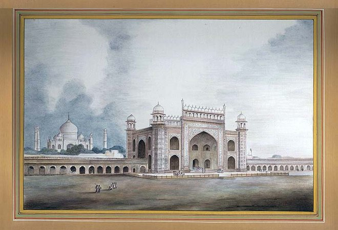 """The Taj Mahal Specifications:  Watercolor on Paper  10.5"""" X 7.4""""    This photogr…"""