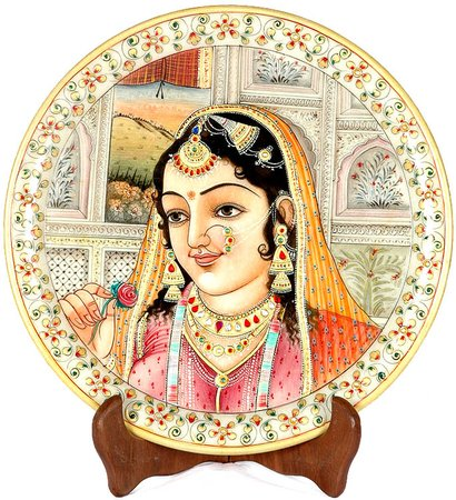 The Fair Shahzadi Water colour paintings on marble are a rare work of art. Each …