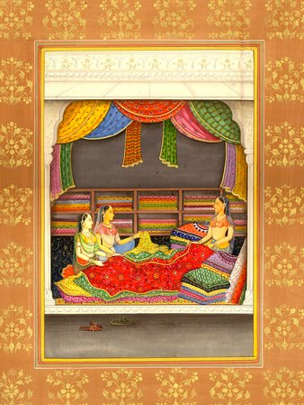Textile Trader Specifications:  Water Color Painting on Paper  Artist:Kailash Ra…
