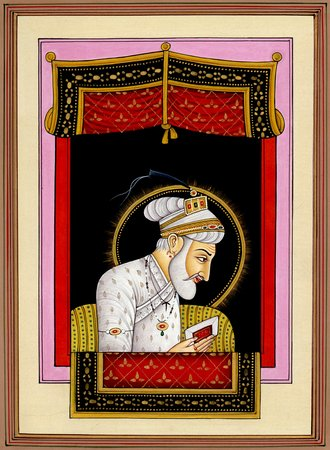 Aurangzeb Specifications:  Water Color Painting on Paper  Artist:Kailash Raj  8 …