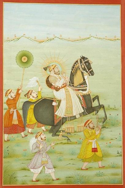 "Maharana Sangram Singh Specifications:  Watercolor on Paper  13.0"" X 19.0""    Th…"