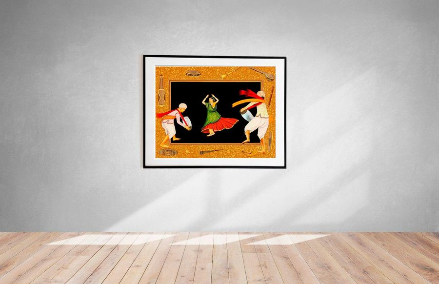 A Folk Dancer from Rajasthan Specifications:  Water Color Painting on Paper  Art…