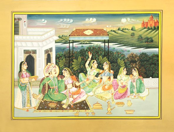 The Idyllic Harem Of The Mughal King Mughal royalty were known for their love of…