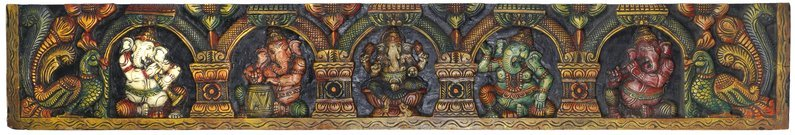 Five Different Manifestations of Lord Ganesha Large Panel Having a Ganesha panel…