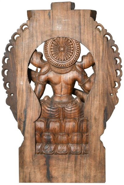 Specifications:  South Indian Temple Wood Carving  47.5 inch Height x 31.2 inch …