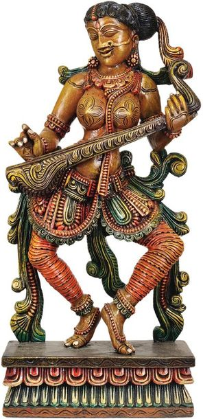 The Solitary Apsara Strumming Her Veena The apsara is a creature of otherworldly…