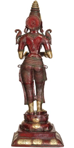 Large Size Deeplakshmi Specifications:  Brass Statue  48.5 inch Height x 17 inch…