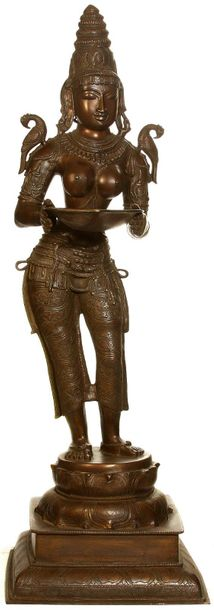 The Welcoming Deepalakshmi Specifications:  Brass Sculpture  51.5 inch X 16.5 in…