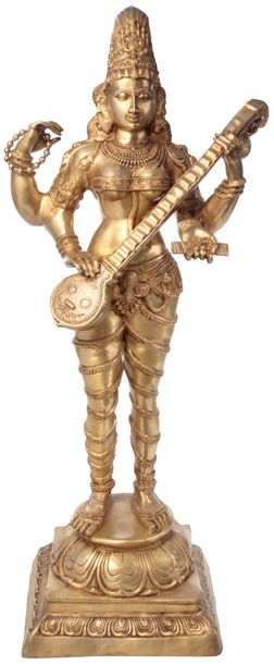 Specifications:  Brass Statue  52 inch Height x 20.5 inch Width x 16 inch Depth …