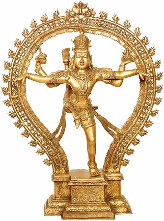 (Large Size) Shiva, The Nataraja in Ananda Tandava Specifications:  Brass Sculpt…