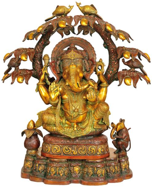 Large Size Ganesha in the Grove of Mango Trees Otherwise a classical form classi…