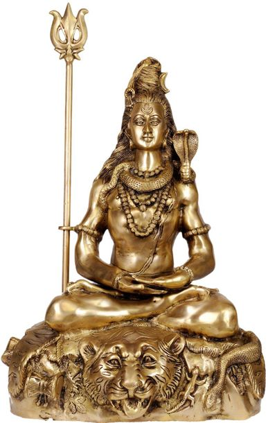 Large Size Mahayogi Shiva in Pranayama Specifications:  Brass Statue  30.5 inch …