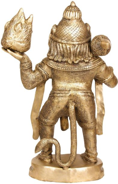 "Large Size Hanuman Carrying Mount Dron Specifications:  Brass Sculpture  34.0"" X…"