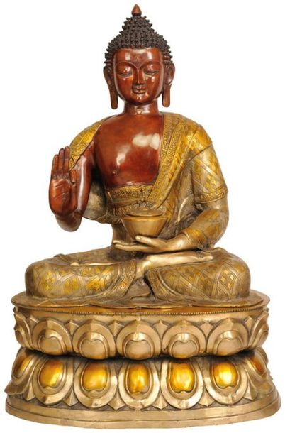 Large Size Gautam Buddha Preaching His Dharma Specifications:  Brass Statue  36 …