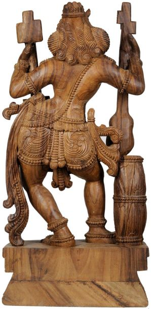 Large Size Yakshi, The Celestial Dancer Specifications:  South Indian Temple Woo…