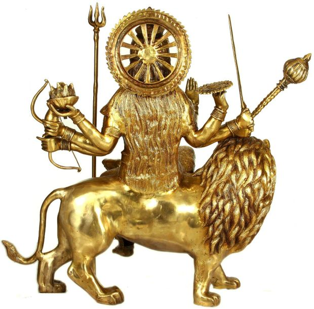 Specifications:  Brass Sculpture  36 inch X 33 inch X 13 inch   67 kg    This mo…