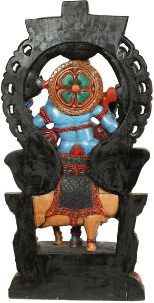 Specifications:  South Indian Temple Wood Carving  52.5 inch Height x 26 inch Wi…