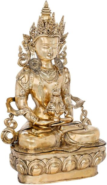 Large Size Amitabha Buddha with The Vase of Immortality Tibetan Buddhist Amitabh…
