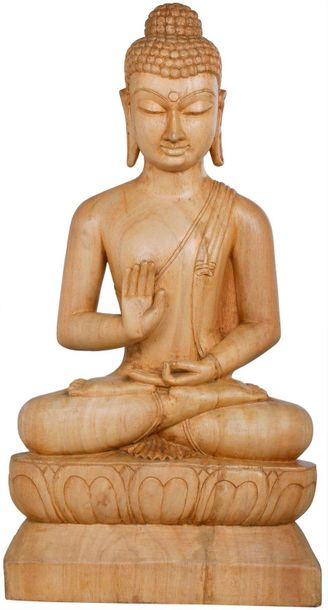 Specifications:  Gambhar Wood Sculpture from Bodh Gaya  30.00 inch Height X 15.5…