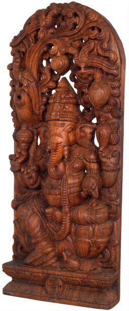 Ganesha The Most Worshipped Deity Specifications:  South Indian Temple Wood Carv…