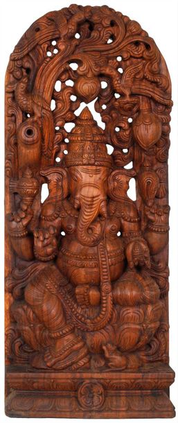 Specifications:  South Indian Temple Wood Carving  36.00 inch Height X 14.50 inc…