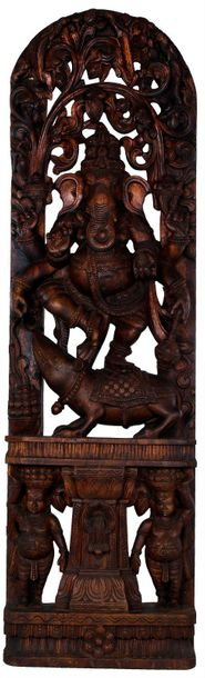 The Divine Dance of Six Armed Ganesha Large Size Carved out precisely in an exot…