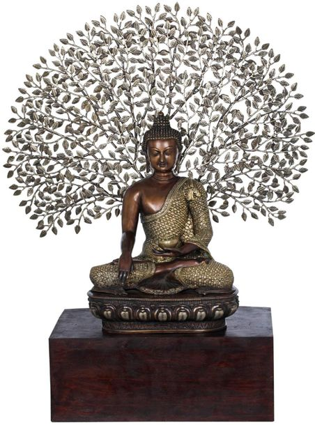 Padmasana Buddha Under The Lifelike Bodhi Tree Few images are more calming to th…