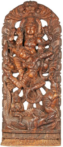 Specifications:  South Indian Temple Wood Carving  35.5 inch Height x 14.5 inch …