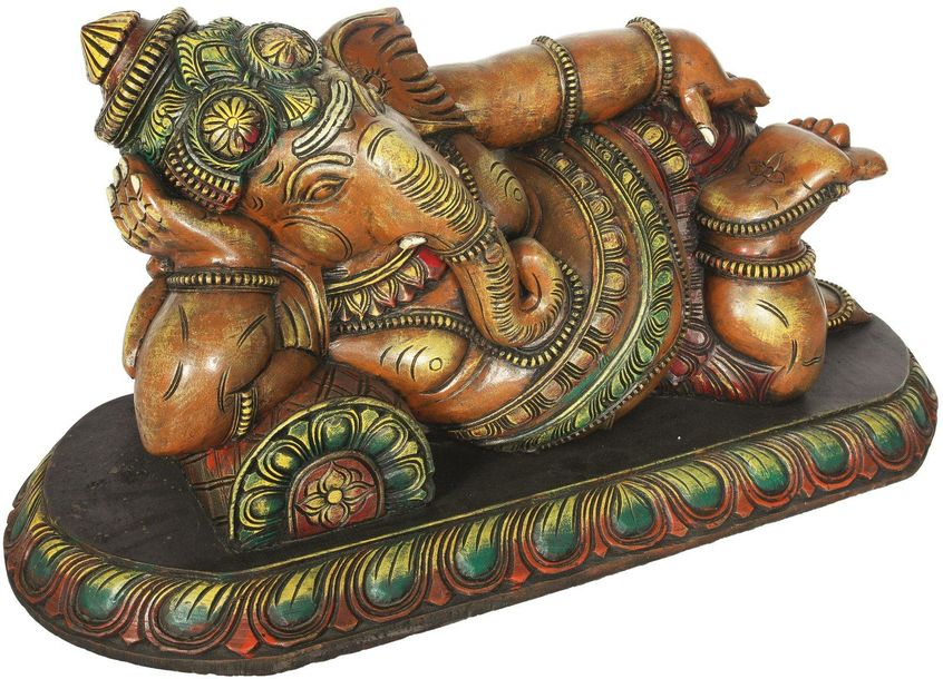 His Majesty Lord Ganesha at Leisure Large Size This elephant head deity is the w…