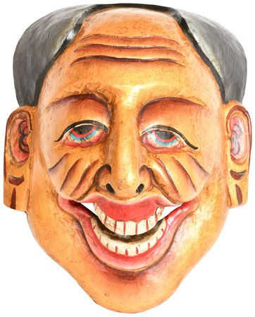 Tantric Face Mask Specifications:  Wood Sculpture  9.3 inch Height x 7.2 inch Wi…