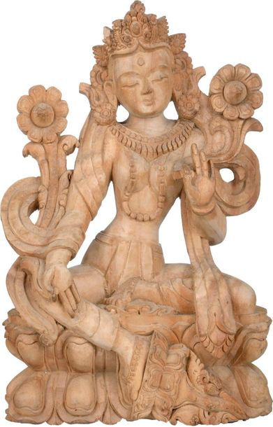 Specifications:  Wood Carving From Nepal  12.00 inch Height x 8.00 inch Width x …