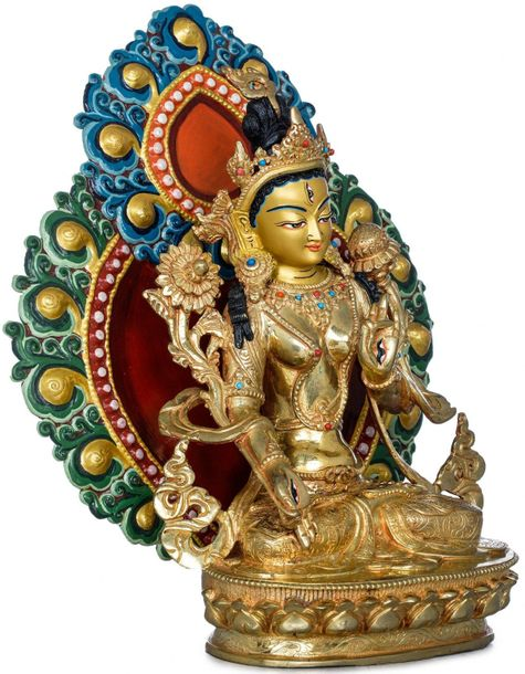 Superfine Tibetan Buddhist Seven Eyed Goddess White Tara Made in Nepal In Buddhi…