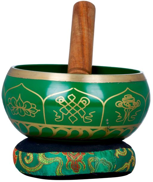 Tibetan Buddhist Ashtamangala Singing Bowl Singing bowls are a major symbol in T…