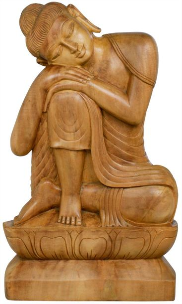 That ease and comfort of Buddha can be clearly identified from this stylized woo…