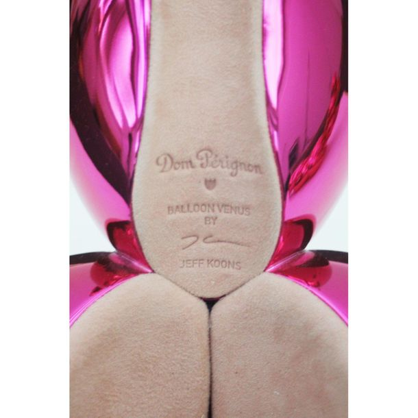 "KOONS Jeff polyurethane""DOM PÉRIGNON BALLOON VENUS (MAGENTA) WITH TWO BOTTLES OF…"