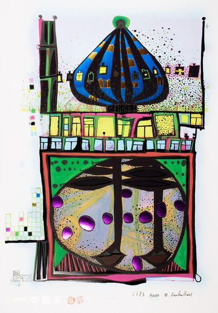 Friedensreich Hundertwasser. 10002 Nights Homo humus come va how do you do. Mixe…
