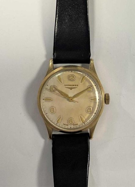 C1956, the signed silvered dial, 32mm diameter, with alternate gold coloured Ara…