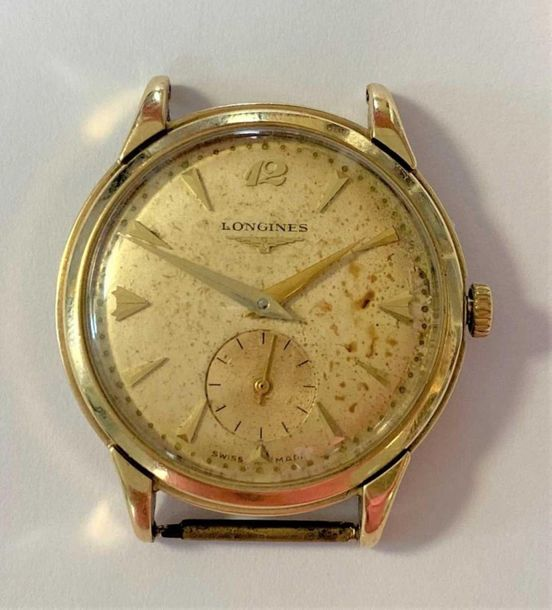 C1953, the signed cream coloured dial, 28mm diameter, with gold coloured batons …