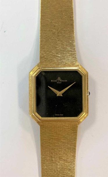 C1971, model 38260, serial number 408148, the signed black square dial with cut …