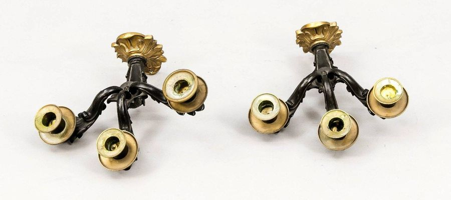 2x 19th century wall sconces Two 19th century bronze Napoleon III wall sconces. …