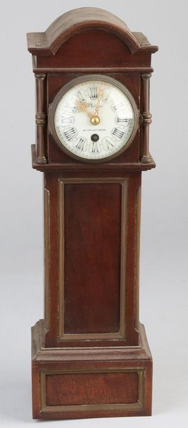 French miniature grandfather clock Antique French mahogany miniature longcase cl…