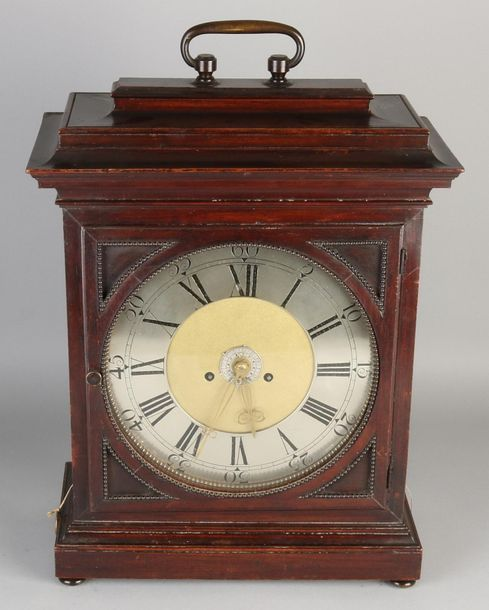 French table clock 18th century French walnut table clock with alarm clock, half…