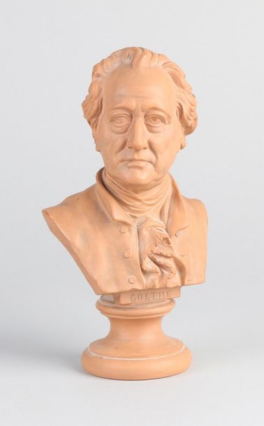 Bust of JW Goethe Antique terracotta bust by JW Goethe. Circa 1900. Dimensions: …