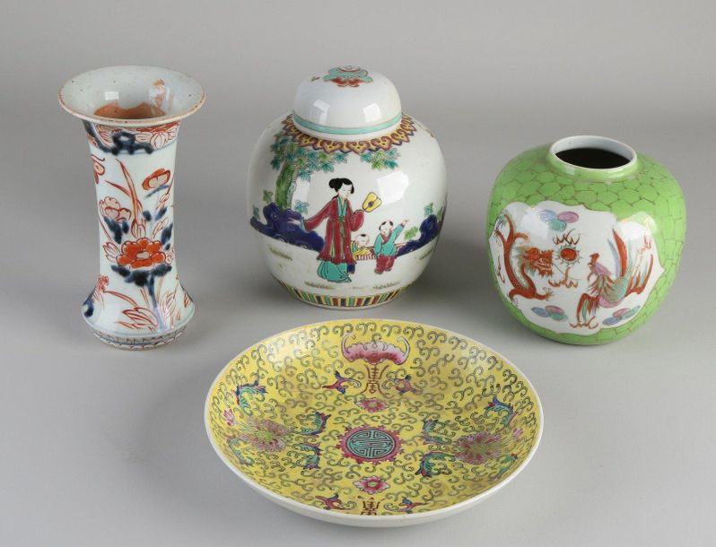 Four parts of Chinese / Japanese porcelain.Consisting of;Two ginger jars, Chin…
