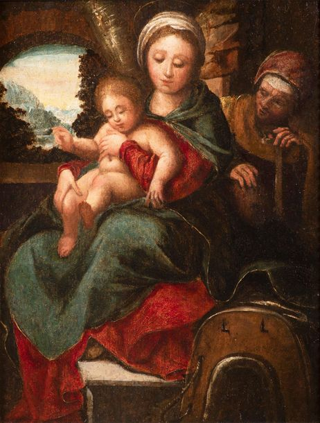 Italian School, 16th century, Madonna and Child with Saint Anne Madonna with Jes…
