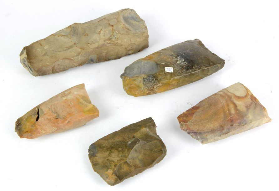 A collection of 5 flint axes including a large one, 3500 2000 BC, Scandinavia. R…