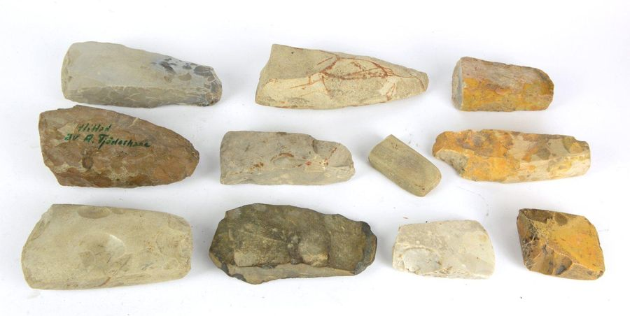 A collection of 11 flint axes and tools, 3500 2000 BC, Scandinavia. Rare collect…