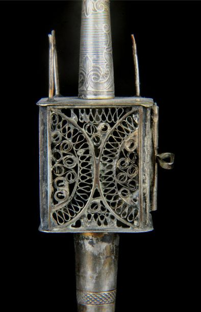 Judaica, silver spice box (besamin), probably Austro Hungary, late 19th century.…