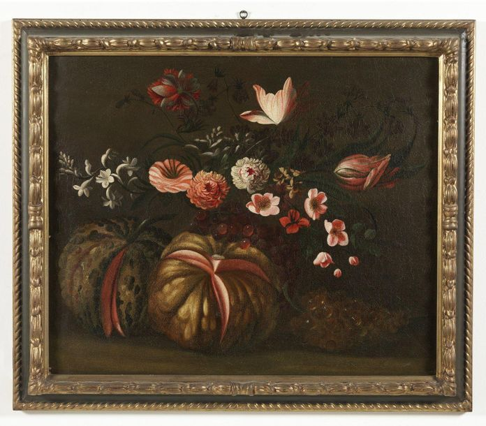 ARTISTA DEL XVII SECOLO ARTISTA DEL XVII SECOLO Pair of still life of flowers an…