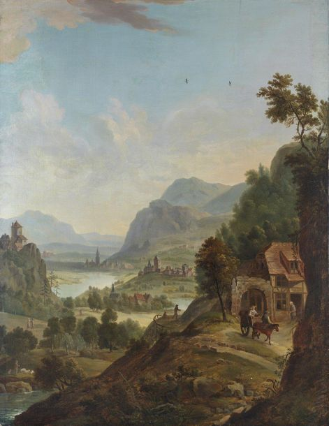 18th CENTURY NORTH EUROPE ARTIST 18th CENTURY NORTH EUROPE ARTIST Landscape with…